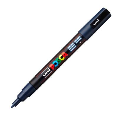 UNI POSCA Marker Pen PC-3M Fine - Navy Blue
